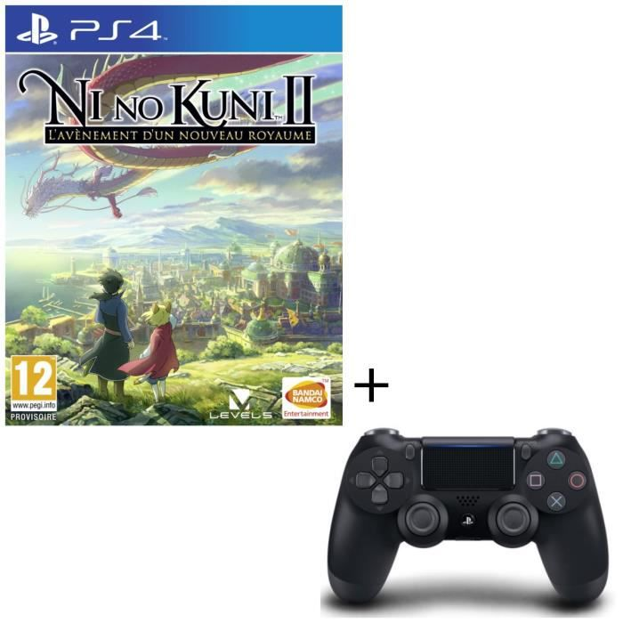 Ni no Kuni II: l'Avènement d'un royaume Jeu PS4 + Manette DualShock 4 Noire V2
