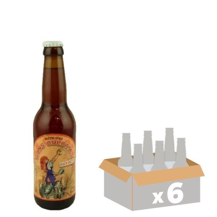 LA SANS CULOTTES - Bière Ambrée - 33 cl x6 - 9% - Fabriquée en FranceBIERE