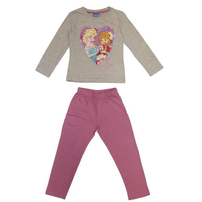 LA REINE DES NEIGES Pyjama 161425 R - Enfant Fille - Rose