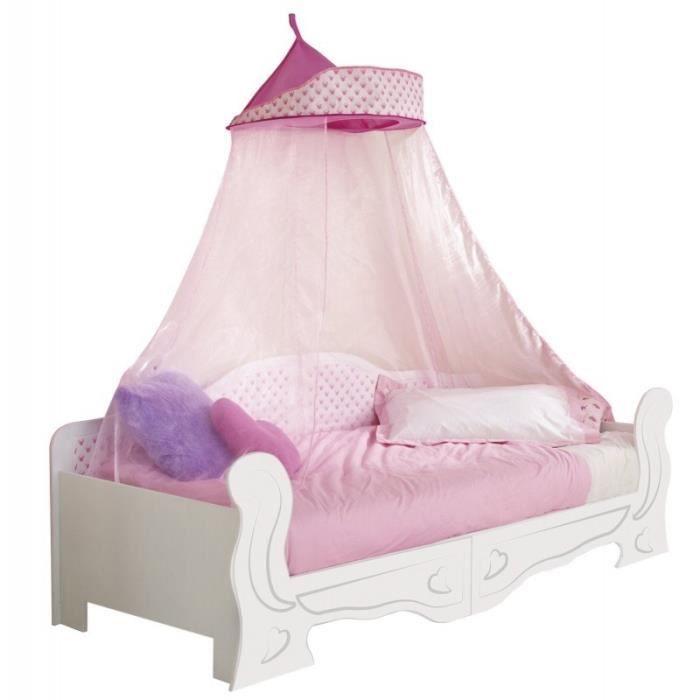Lit en bois blanc et rose enfant en bois blanc 70 * 140 cm Convertible en canapé Hello Home - Worlds Apart