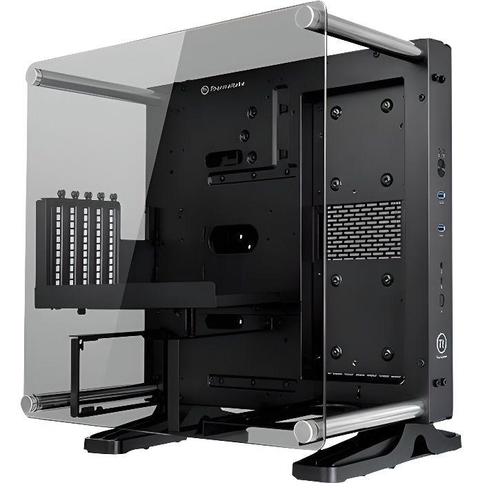 Thermaltake Boitier PC Core P1 Edition Verre Trempé - Mini Tour - Fenêtre en verre trempé - Noir
