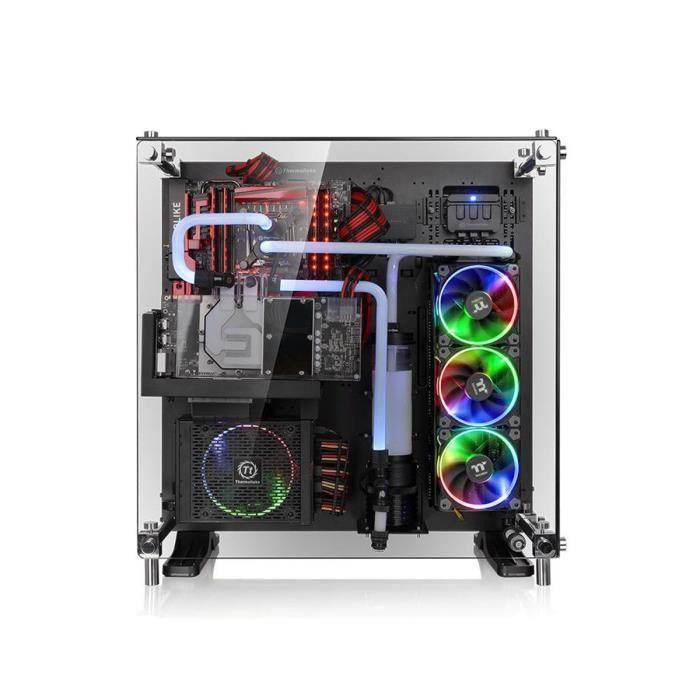 Thermaltake Boîtier PC Core P5 - Edition Verre Trempé - Noir - Moyen Tour - Fenêtre en verre trempé