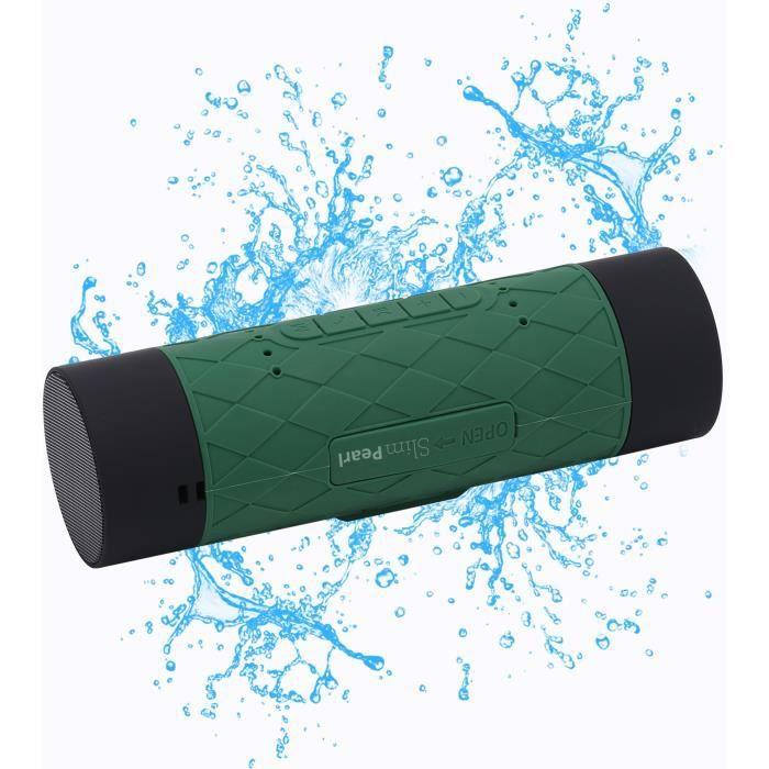 Fonction batterie de secours permettant de recharger jusqu'à 3 fois un smartphone - Technologie Bluetooth 4.0ENCEINTE NOMADE - HAUT-PARLEUR NOMADE - ENCEINTE PORTABLE - ENCEINTE MOBILE - ENCEINTE BLUETOOTH - HAUT-PARLEUR BLUETOOTH