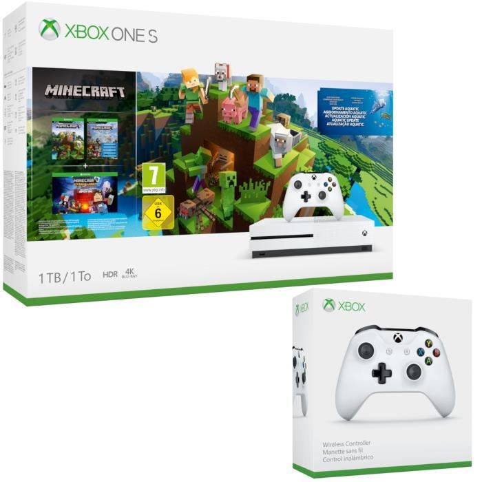 Xbox One S 1 To Minecraft + 2e manette