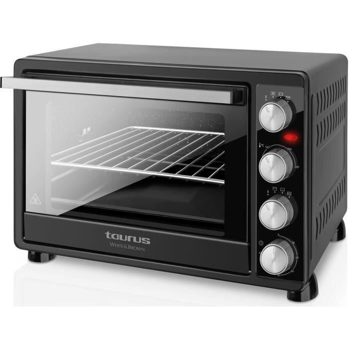 TAURUS Horizon 45-Mini four-45 L-2000 W-Cuisine traditionnelle, sole, voûte, rôtissoire et convection-Noir