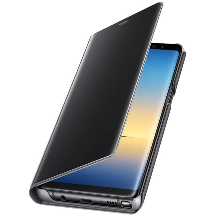 Samsung Clear View Cover Note8 - Noir