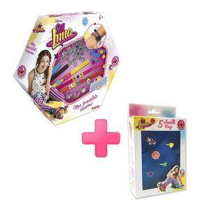 SOY LUNA Pack Bijoux - Mes Bracelets Charms + Boîte 5 Bagues