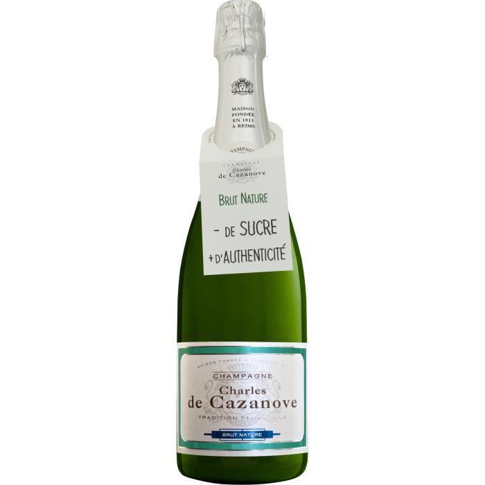 Champagne de cazanove brut nature