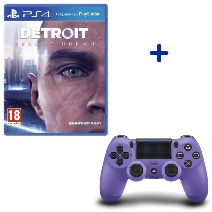 Detroit Become Human + Manette DualShock 4 Electric Purple
