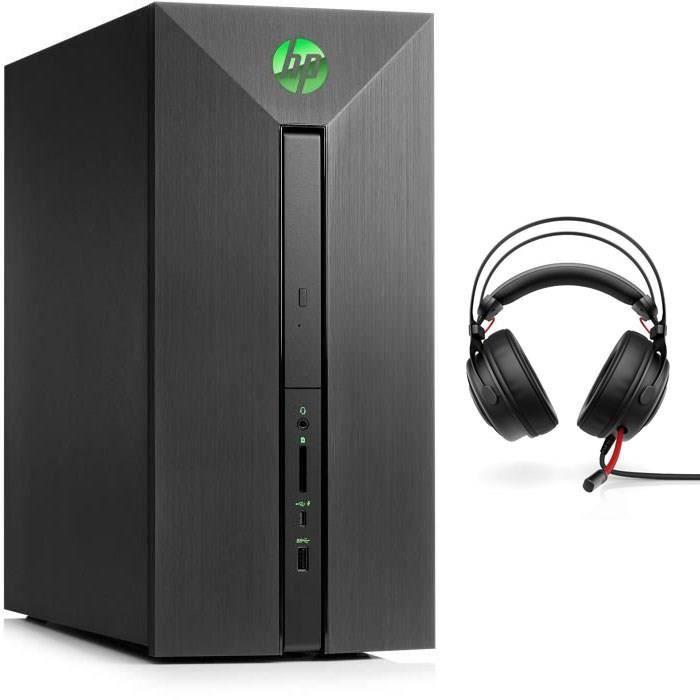 HP PC de Bureau Pavilion Power - 580155nf - RAM 8Go - Core i5-8400 - Nvidia GTX 1050 - Stockage 1To + Casque Omen