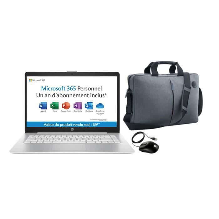 """PACK HP PC Portable 14-ds0001nf - 14""""HD - AMD A4 - RAM 4Go - Stock 32Go + Microsoft 365 inclus"""