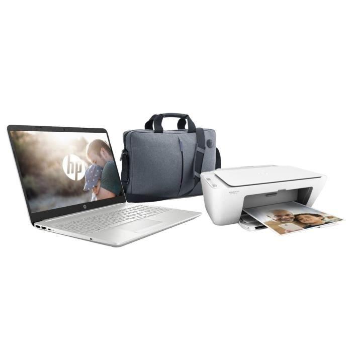 Hp pc portable 15 dw0080nf 15.6 hd tn intel core i3 7020u ram 4go disque dur 1to ssd 128go imprimante sacoche
