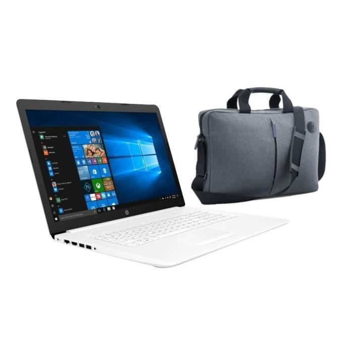 Hp pc portable 17 by0057nf 17.3hd intel core i3 7020u ram 8 go disque dur 1 to dvd azerty win 10 sacoche