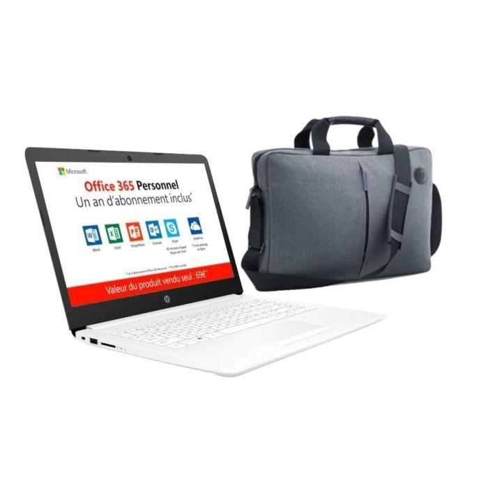 "HP PC Portable 14""HD 14-cm0995nf - AMD A4-9125-RAM 4Go - Stockage 32Go - Windows 10+ sacoche+Of"