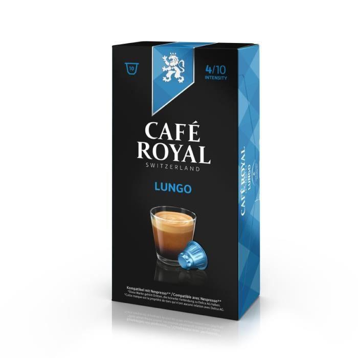 10 capsules Cafe Royal Lungo Capsules compatibles Système Nespresso ®