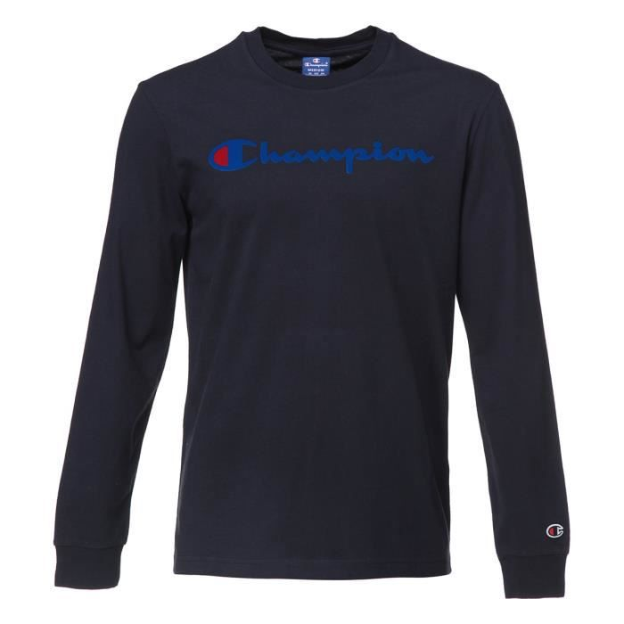 CHAMPION T-shirt manches longues - Homme - Marine
