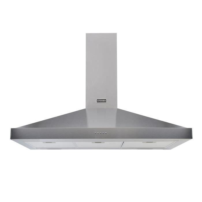 STOVES Sterling - Hotte décorative murale pyramidale - 548m3/h - 67 dbA - 3 vitesses - L 90 cm - Ino