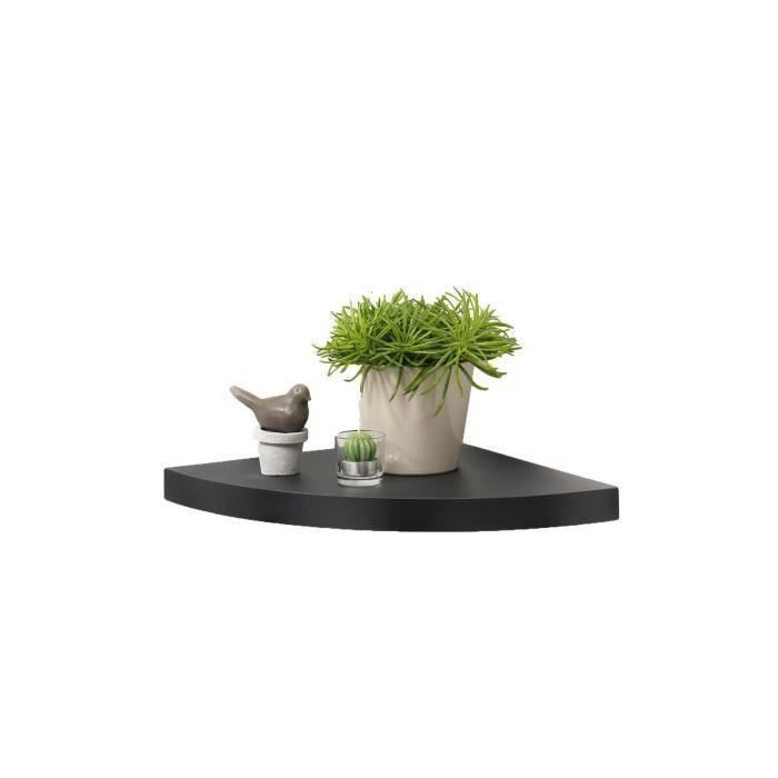 Matière : MDF - Finition : PVC lisse - Dimensions : 25x25x3,4 cm - Coloris : noirETAGERE MURALE - ECHELLE ETAGERE