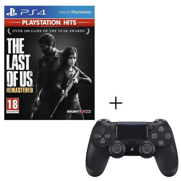 Pack PlayStation : The Last Of Us Remastered PlayStation Hits + Manette PS4 DualShock 4 Noire V2 + Voucher Fortnite
