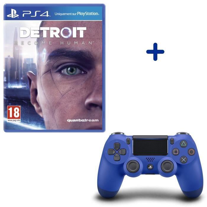Detroit Become Human + Manette DualShock 4 Bleue