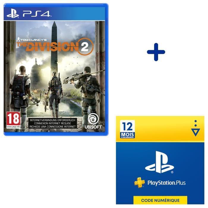 Pack The Division 2 + Abonnement PlayStation Plus 12 Mois