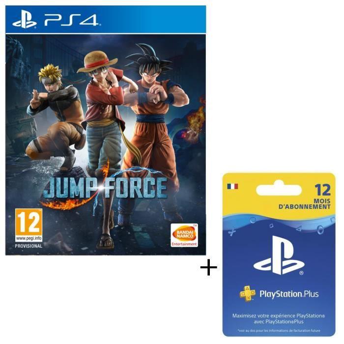 Pack Jump Force + Abonnement PlayStation Plus 12 Mois