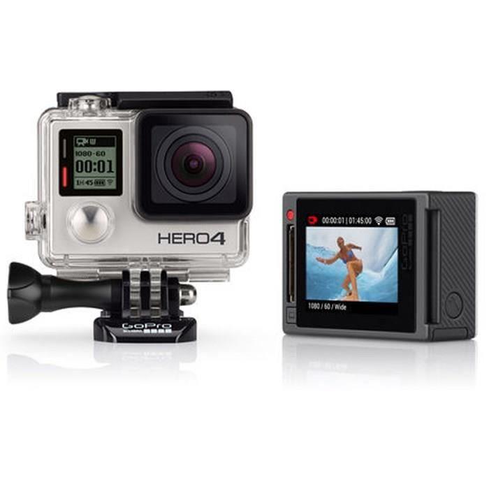 GoPro HERO4 Silver Caméra sport Full HD - Ecran tactile intégré - 12 mégapixels - Etanche 40m