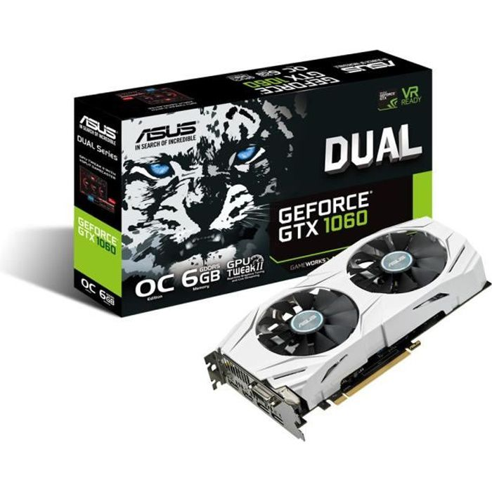 Asus Carte graphique GeForce® GTX 1060 DUAL O6G 6Go GDDR5