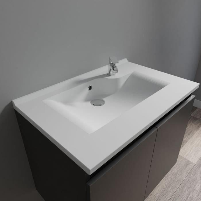 CREAZUR Plan simple vasque 70cm