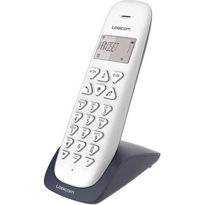 LOGICOM Téléphone sans fil VEGA 150 SOLO Ardoise sans répondeur