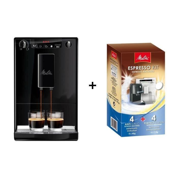 Pack MELITTA Machine à expresso Caffeo Solo E950 + Kit de nettoyage