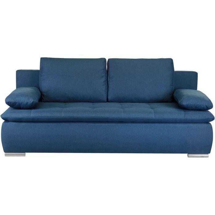 CLAUDIO Banquette convertible - Tissu bleu