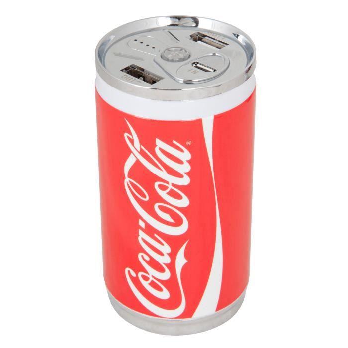 Urban Factory Power Bank 10 400 mAh Batterie de Secours Coca-Cola Rouge