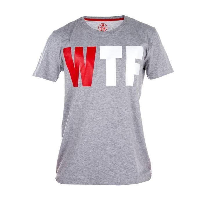 WTF T-shirt Homme Logo - Gris