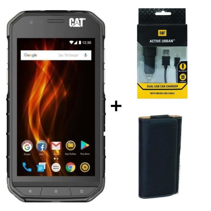 Caterpillar Cat S31 + Chargeur Allume-Cigare + Housse Universelle