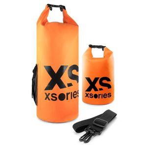 XSories - STUFFLER 8L - Sac étanche en PVC, fermeture roll-top et clip, poche interne et bandouli?re, 8 litres, Orange