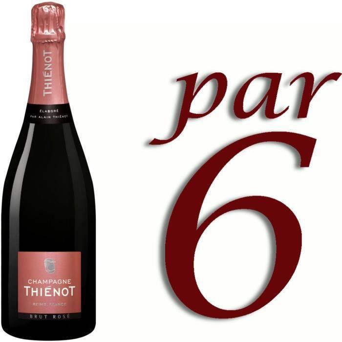 Thienot champagne rosé x6