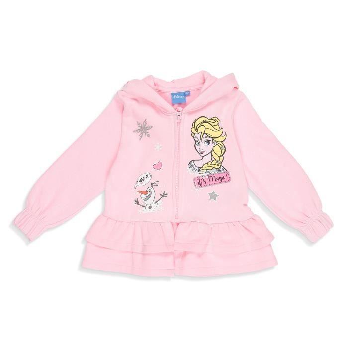 LA REINE DES NEIGES Sweatshirt Rose Enfant Fille