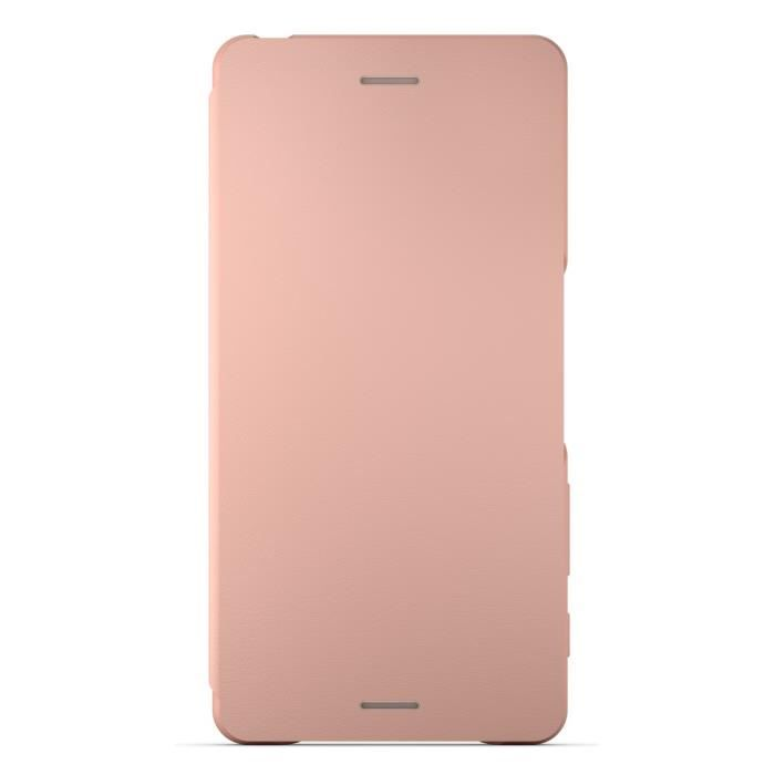 Sony Style Cover Flip Rose pour Xperia X