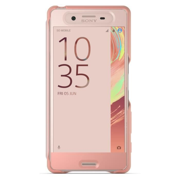 Sony Flip Cover Touch pour Xperia X Performance Rose