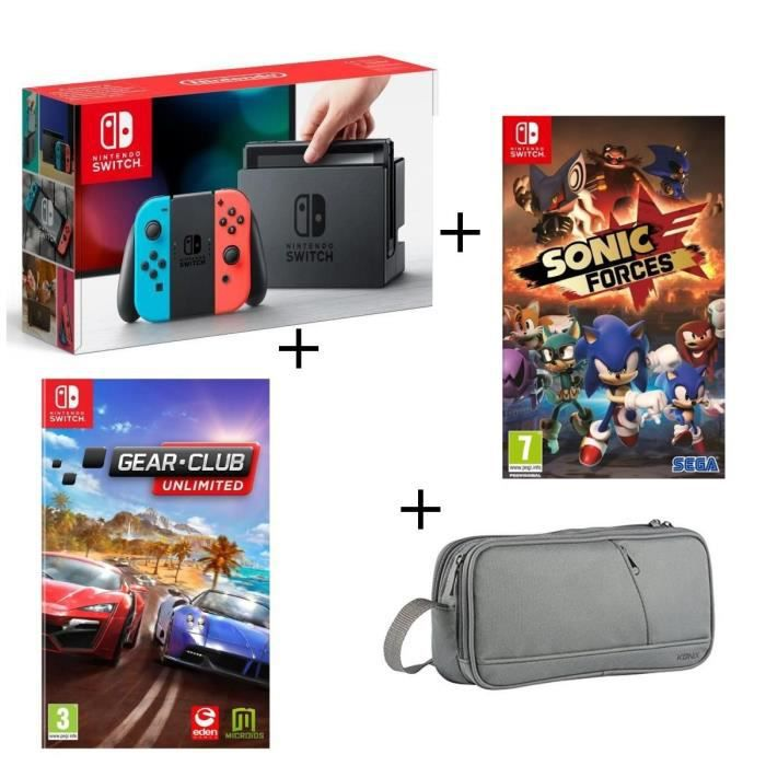 Console nintendo switch néon the binding of isaac sonic forces pochette