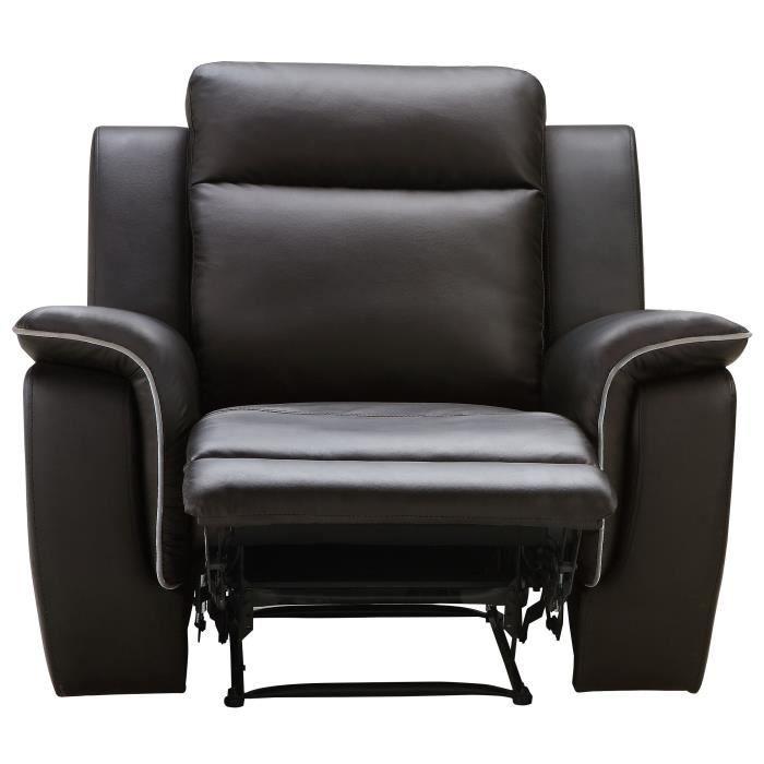 COCOON Fauteuil de relaxation - Simili marron - Contemporain - L 108 x P 96 cm