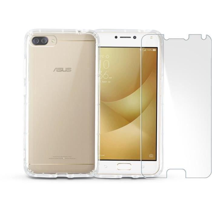 ASUS Zenfone 4 Max Plus 5,5'' Gold + IBROZ coque + verre trempé