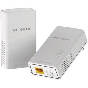 NETGEAR Pack de 2 CPL 1000 Mbit/s, 1 port Gigabit- Mod?le PL1000-100PES