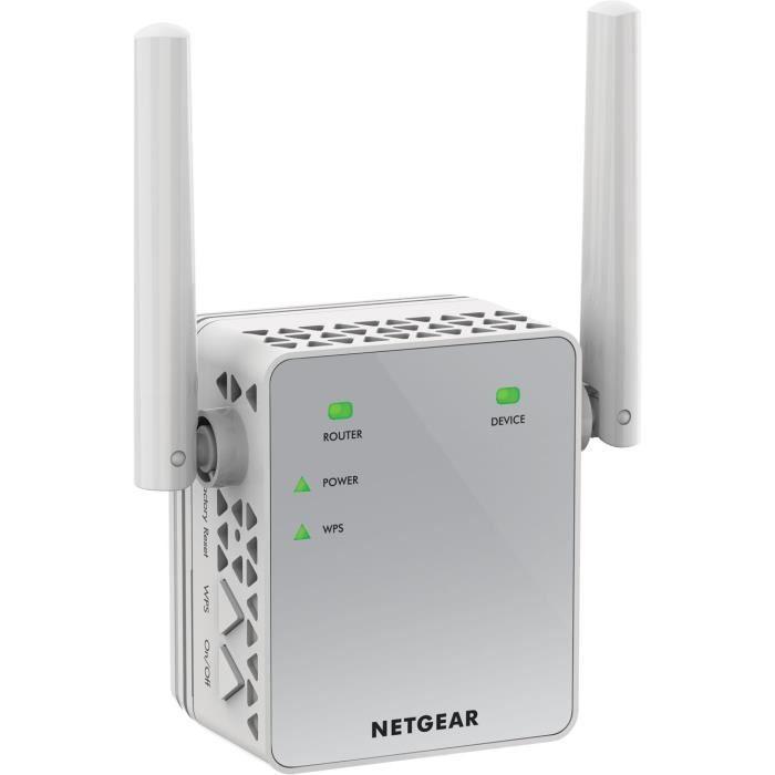 NETGEAR Répéteur Wi-Fi 750 Mbps AC750 EX3700-100PES format prise murale compact