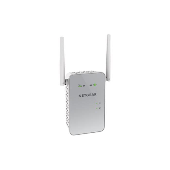 NETGEAR Répéteur Wi-Fi 1200 Mbits AC1200 Dual Band Gigabit RJ45 Blanc EX6150-100PES