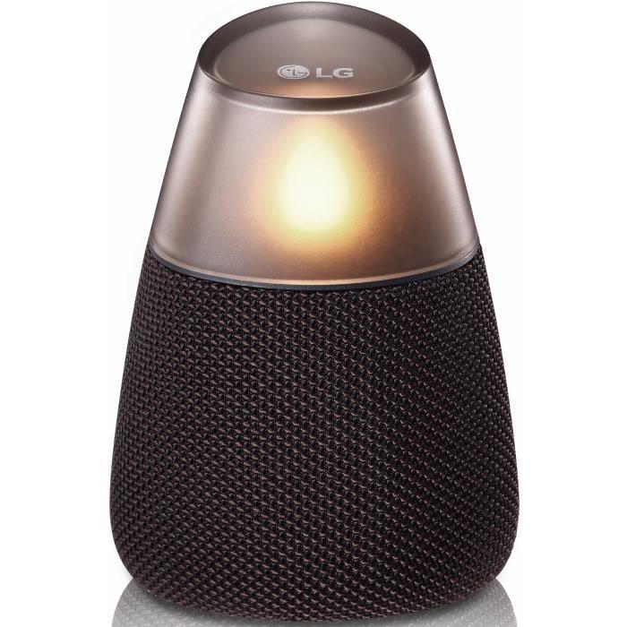 LG PH3AEUSLLK Enceinte portable Bluetooth - 8h d'autonomie - Jumelage multiple - Éclairage LED