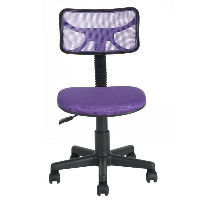 DIAS Chaise de bureau - Tissu violet - Junior - L 40 x P 38 cm