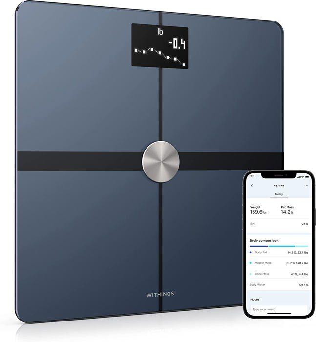 NOKIA Body Plus – Balance Wi-Fi avec analyse de la composition corporelle - Noir
