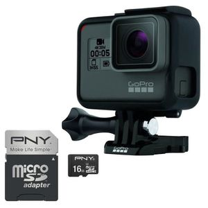 Pack GOPRO HERO 5 Black Caméra de sport + PNY Micro SD 16 Go